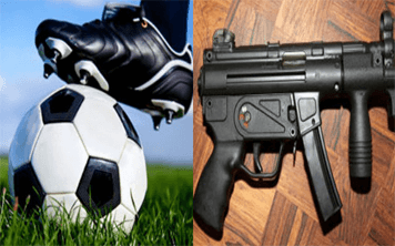 5 A Side Football & Kalashnikov Shooting – Krakow